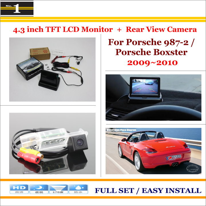 "4.3"" TFT LCD Monitor + Car Rearview Back Up Camera = 2 in 1 Car Parking System - For Porsche 987-2 / Porsche Boxster 2009~2010(China (Mainland))"