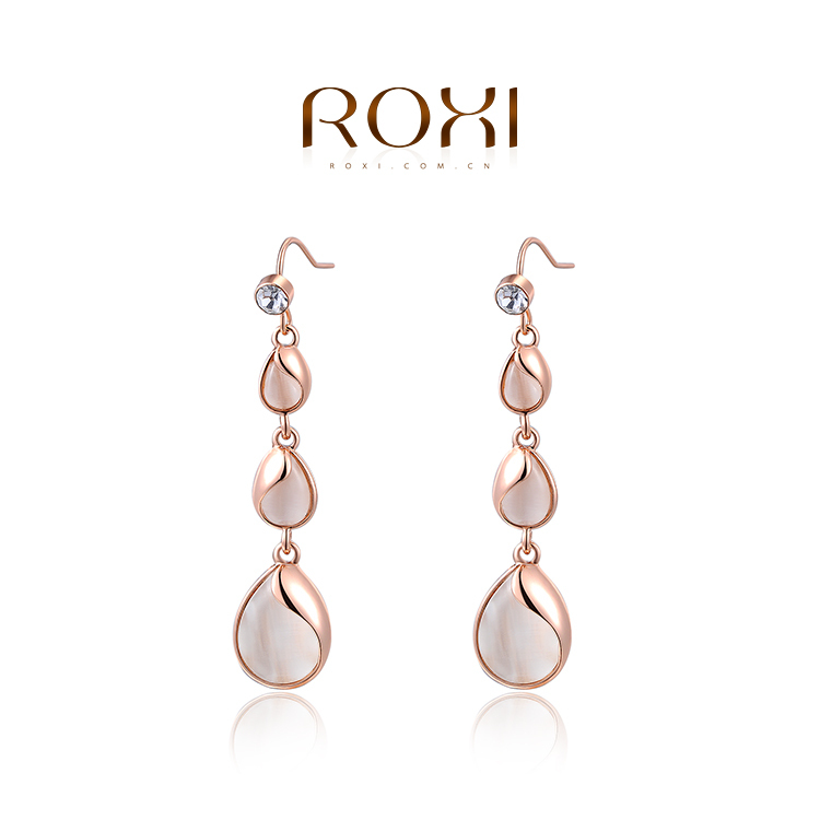 2015 ROXI fashion girls dropwater earrings ,lovely girls party earrings , wholesale ,wedding/Christmas gifts,Nickeless jewelry(China (Mainland))