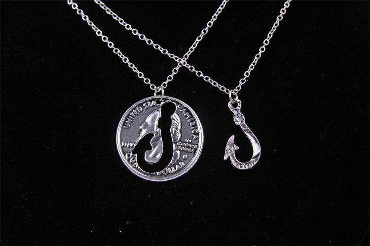 2015 Hot Embossed United State USD1 Best Friends Pendant Necklace,Best Friends Puzzle BFF Jewelry Gift Necklace(China (Mainland))