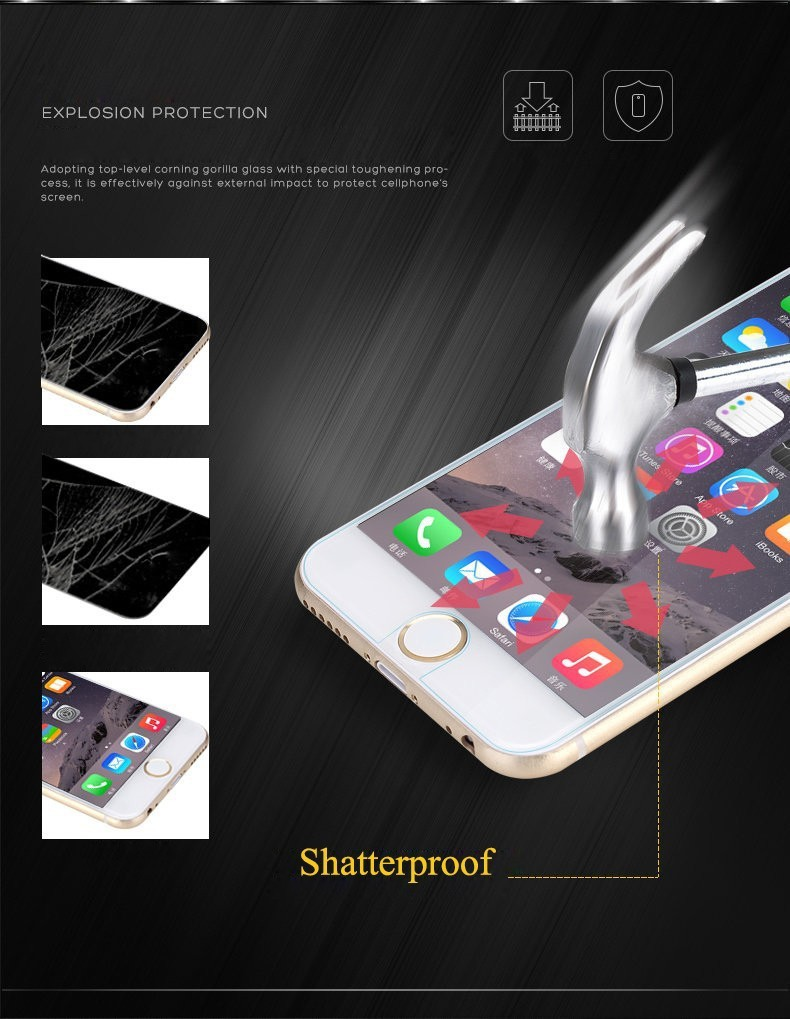 102.5D 0.3mm 9H Premium Tempered Glass Screen Protector iPhone 6 6s 4.7''/6 plus 5.5''/5S 5G 5C/4S 4G glass film