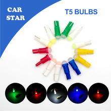 10X T5 Canbus W5W LED 1SMD Error Free White Car Auto LED Light Bulb Lamp Dashboard License Plate Panel Lights FREE SHIPPING