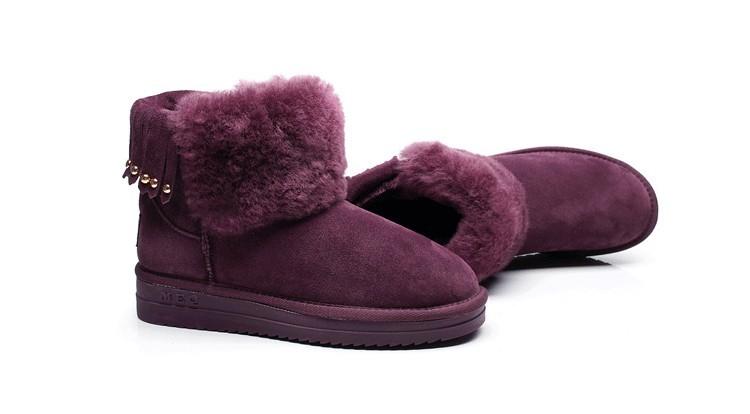 ซื้อ ที่มีคุณภาพสูงขายส่ง/ปลีกคลาสสิกสตรีหิมะบู๊ทส์จริงหนังแกะรองเท้าฤดูหนาวสตรีที่อบอุ่นสะดวกสบายรองเท้าGN04