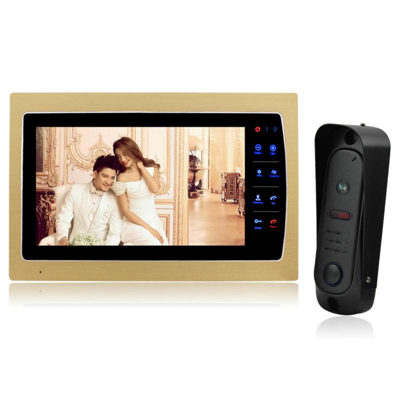 YSECU 7 Touch Button Video Door Phone Intercom + 1200TVL CMOS 1/3 inch Rainproof IP65  Night Vision Camera  1 V1  <br><br>Aliexpress
