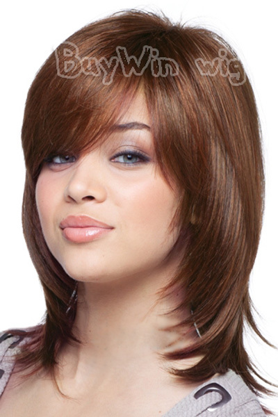 Гаджет  2014 New Arrival Medium Chestnut  Hot Selling Heat Resistant High Quality Synthetic Wigs For European And American  Lady None Волосы и аксессуары