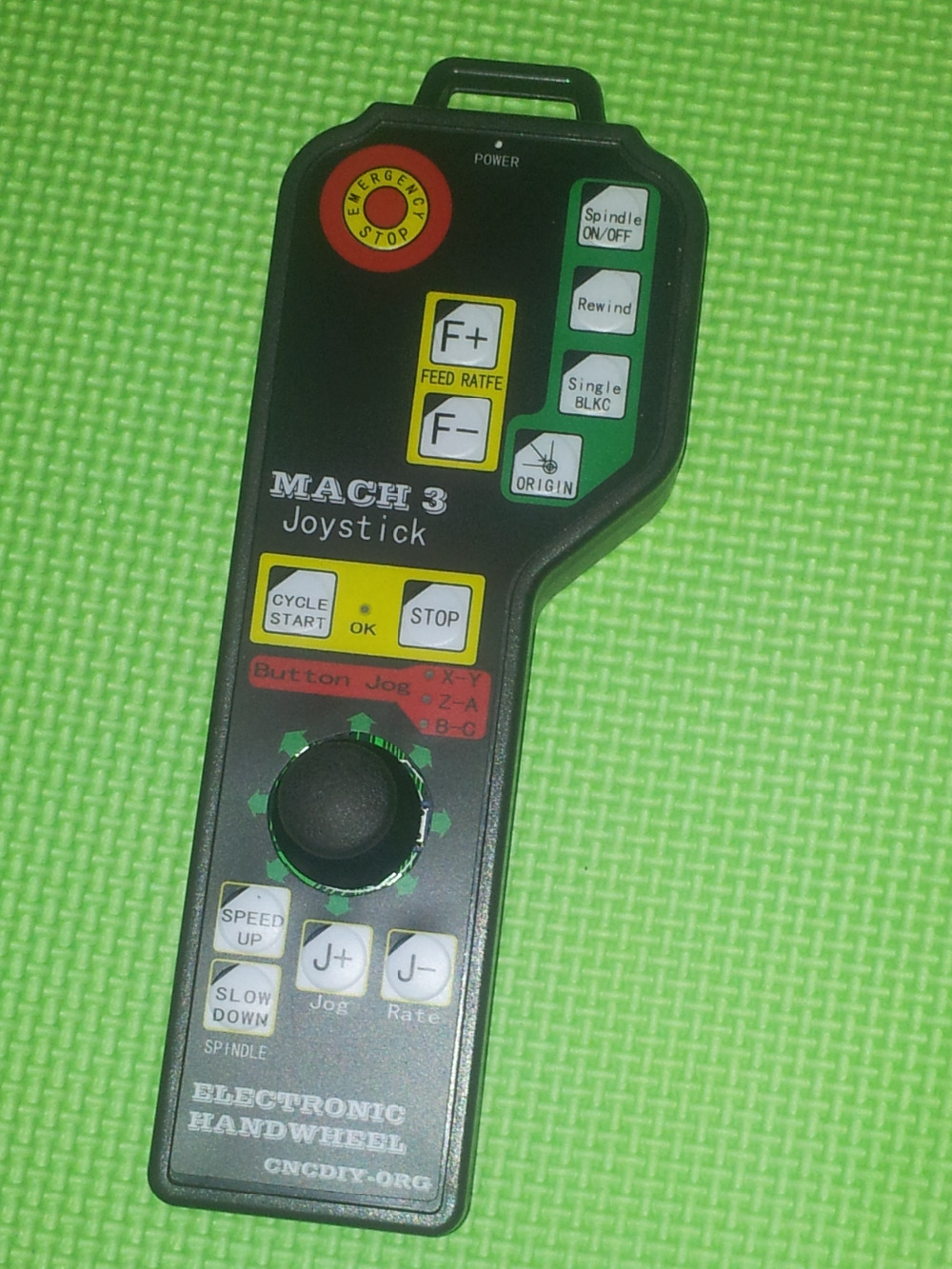 Free shipping plastic 6 axis usb cnc controller mach3 mpg manual handle of engraving machine(China (Mainland))