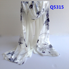 hot sale women long silk scarf cape broadened textile printing scarves chiffon scarf fashion Shawls super comfortable wrap-b95