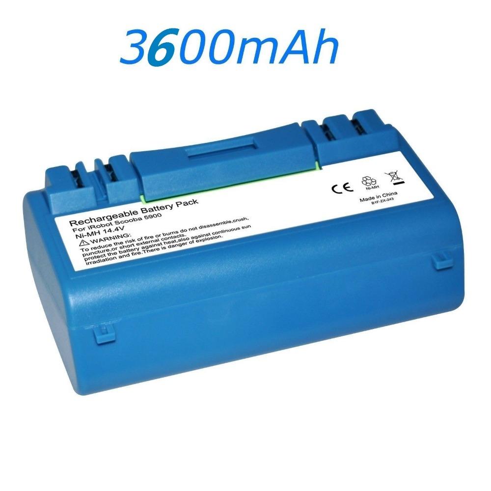 3600mAh 14.4V Battery Pack Fr iRobot SCOOBA 330 350 340 5900 5910 5920 5940 5950(China (Mainland))