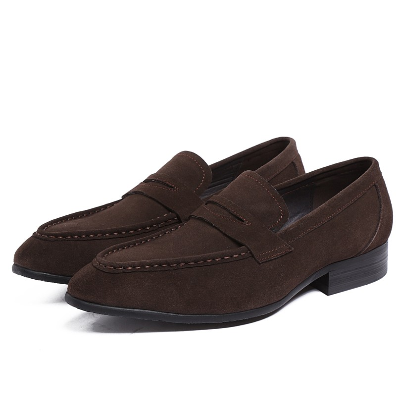 2015 New Fashion Genuine Leather Suede Formal Brand Man British Style Loafers Flats Round Toe Mens Slip-on Boat Shoes GLM1174<br><br>Aliexpress