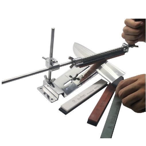 Upgraded Fixed-angle Knife Sharpener Kit Full Metal Stainless Steel knife slicker whetstone +Professional 4 Sharpening Stones(China (Mainland))