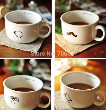 Zakka Cute New Style Breakfast Milk Mug Cup Creati...