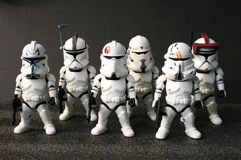 6pcs/set Star Wars Stormtrooper 6style Black Series BB8 Darth Maul Han Solo Darth Vader Yoda Captain Action Figure Model PVC 9CM<br><br>Aliexpress