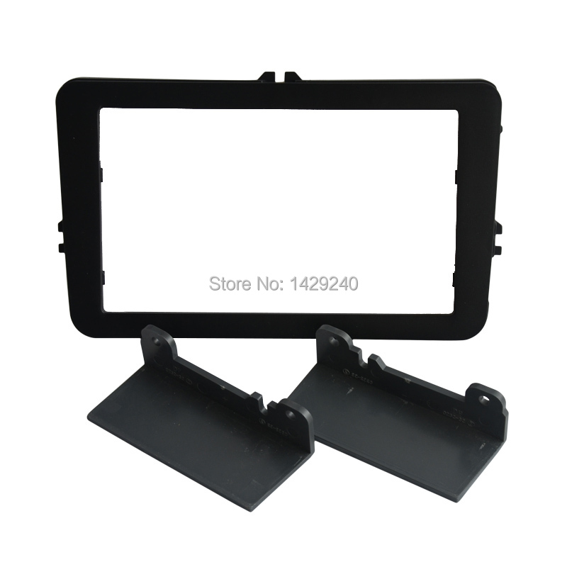 Car DVD/CD Radio Stereo Fascia Panel Frame Adaptor Fitting Kit For Volkswagen Polo/Passat/Touran/Jetta/Golf/Skoda Fabia 2(07~14)(China (Mainland))