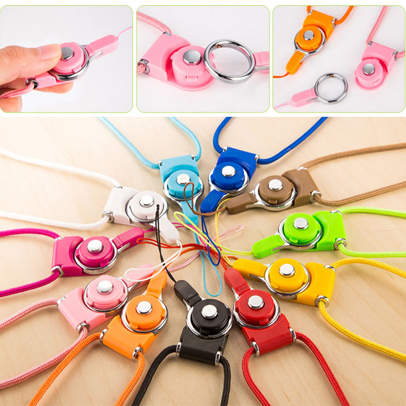 luxury universal straps for accessories by chain detachable nylon lanyard neck strap hole mobile phone for keys card badge(China (Mainland))