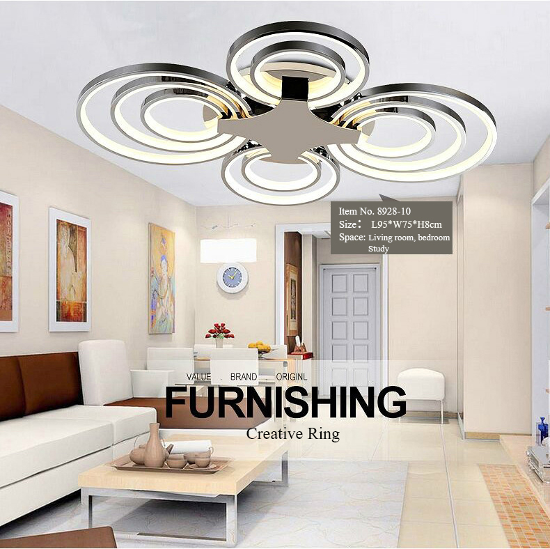 creative modern led ceiling light for living room brief dining room