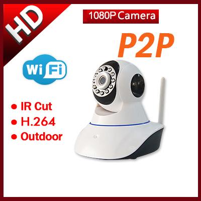 1080P Wifi Wireless IP Camera Baby Monitor P2P Pan/Tilt 2 MP HD Camera For Home Secuirty Camera IP PTZ Camera(China (Mainland))
