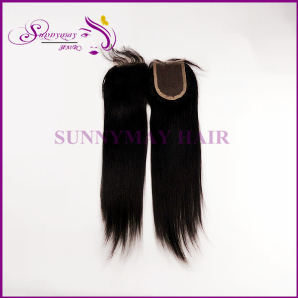 Sunnymay closures 3x4 natural straight cheap unprocessed virgin brazilian human hair middle part lace top closure bleached knots<br><br>Aliexpress