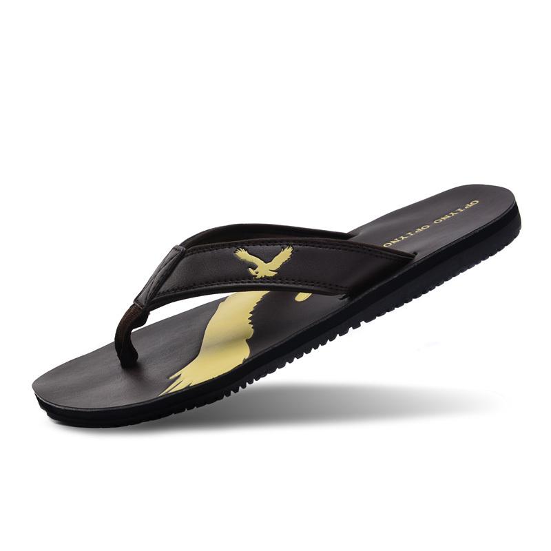 2015 Summer casual men sandals the trend flip flops fashion beach flat men slipper(China (Mainland))