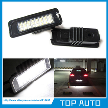 2XLED Number License Plate Light for Skoda SEAT Leon 2006-2010(China (Mainland))