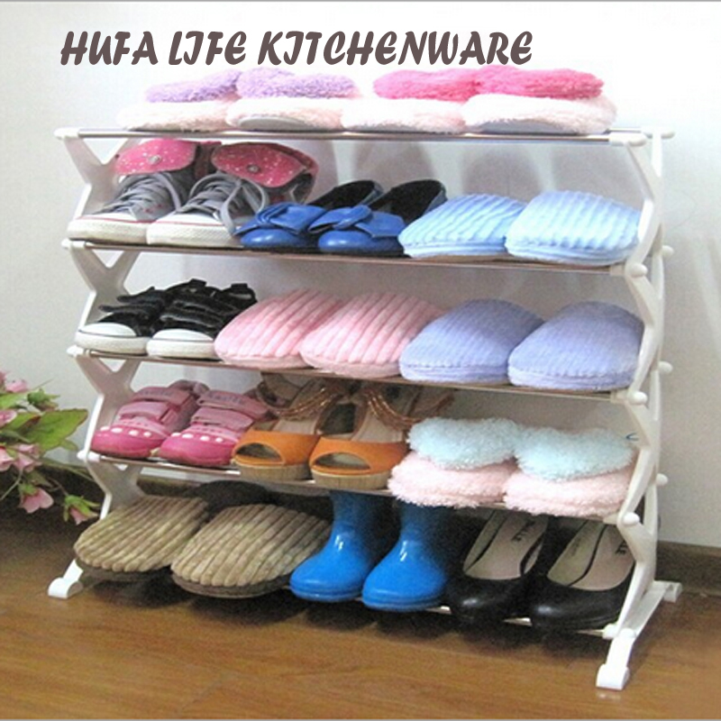 2016 New Arrival 5 Layer Shoe Rack Stainless Steel Assemble Stand Shoe Shelf Sapateira Holder For Living Room or Bedroom(China (Mainland))