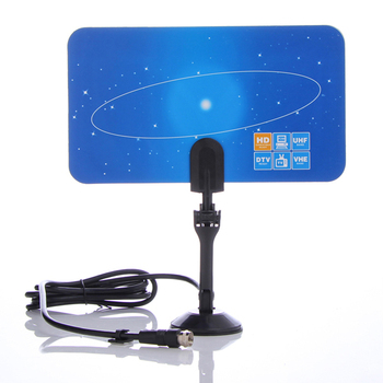 free shipping Digital Indoor TV Antenna HD TV HDTV DTV VHF UHF Flat High Gain US Standard for United States area