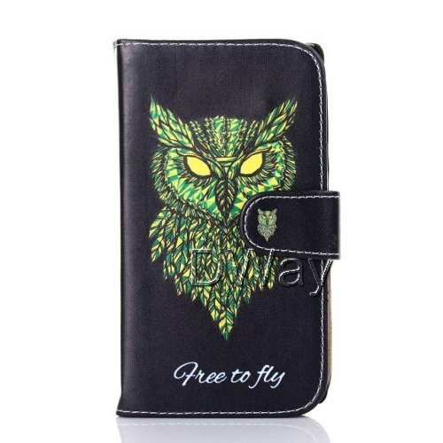 New Stylish Owl Stand Wallet Book Flip PU Leather Cover For Huawei Ascend G700 Free Shipping 30PCS/LOT Ascend G700 Case