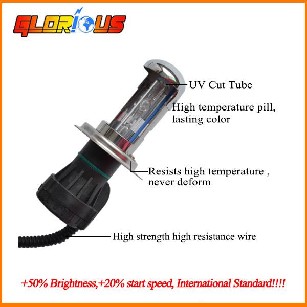 Car 35W HID H4-3 H4 Conversion Hi/Lo Beam White 4300k 5000k 6000k 8000k 10000k Bi-Xenon Headlight Light Bulbs(China (Mainland))