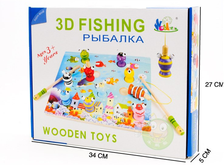 Baby Toys Wooden Magnetic Fishing Game Toys Child 3D Fishing Platter Puzzle Magnetic Educational Wooden Toys Gift(China (Mainland))