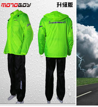 how-yes New Waterproof Reflective Outdoor Sports Wind-resistant Jacket Electric Bicycle Motorcycle Split Raincoat High Quality(China (Mainland))