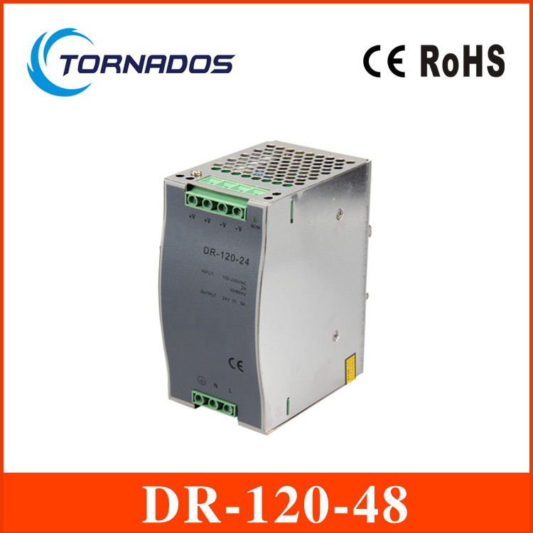 wide range input nicely DR-120-48 high quality Single Output LED 120w 48vdc 2.5a Din Rail Power Supply Transformer<br><br>Aliexpress