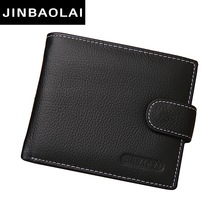 men wallets genuine leather wallet hasp design men wallets with coin pocket purse 2016 new gift card holder for men carteira(China (Mainland))
