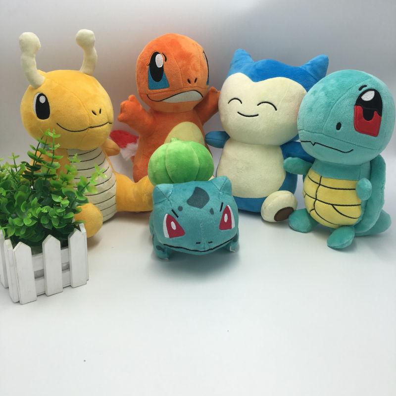 Hot Anime Pokemon GO Plush Toys Charmander Bulbasaur Dragonite Snorlax Squirtle Stuffed Animals Doll Kids Children Birthday Gift(China (Mainland))