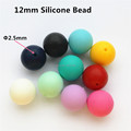 100pcs lot 12mm BPA Free Loose Silicone Round Chewing Beads Food Grade DIY Mommy Necklace baby