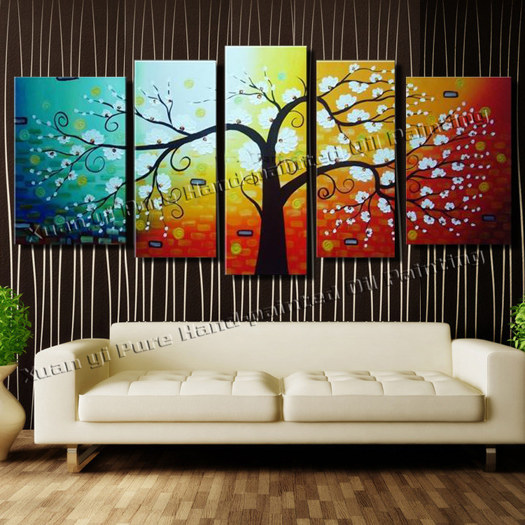 Buy 5 panel modern hand painted money - Sensual paintings for the bedroom ...