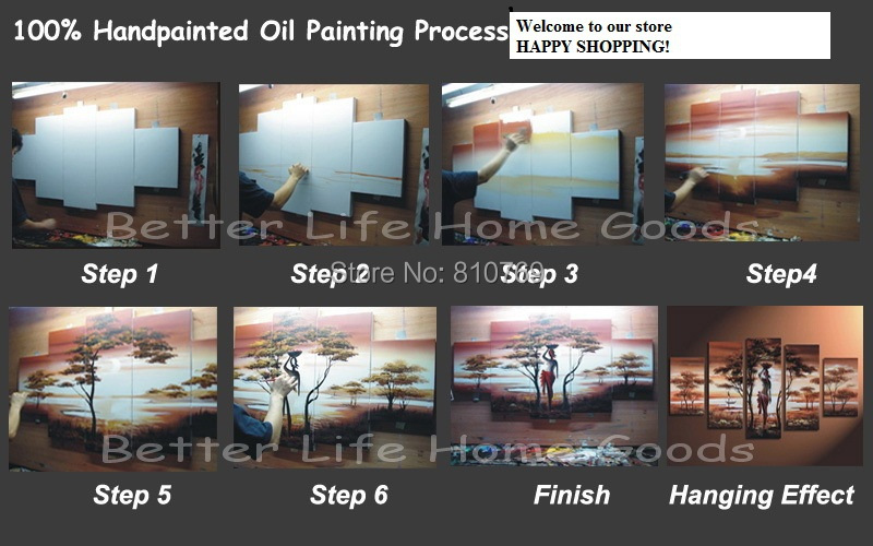 Buy Hand painted oil painting Home decoration high quality canvas Abstract  knife painting pictures  NO Framework cheap
