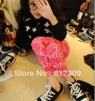 New 5pcs Baby Girls Hello Kitty Leggings fashion thick leggings cute and carton design free shipping