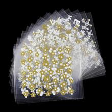 24 Pcs/Lot Beauty Gold Wihte Design 3D Nail Stickers Glitter Nail Art Decotations Manicure Tools For Charms Nails JH163