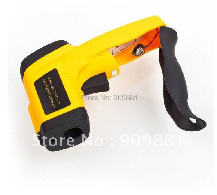 GM300 Non-Contact Digital Infrared IR Thermometer With Laser -50~+380'C Cinical Termometer LCD free shipping(China (Mainland))