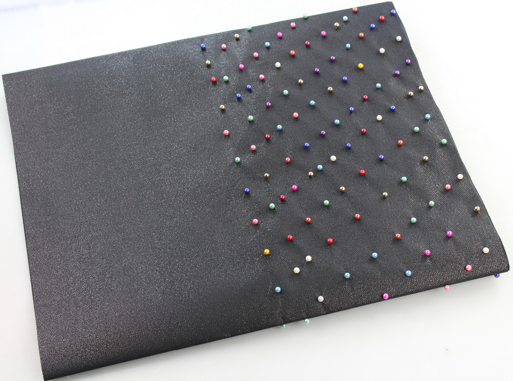 LS002 BLK WITH COLOFUL BEADS