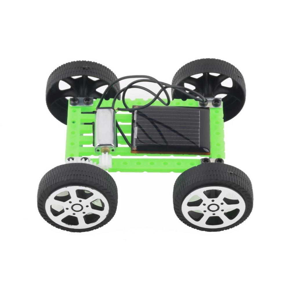 DIY Solar Toy Car Assemble Solar Vehicle Mini Solar Energy Powdered Toy Racer Child Kid Solar Car Education kit VB217 P40(China (Mainland))