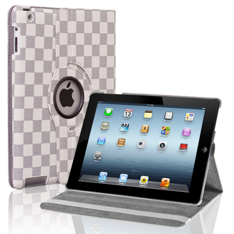Hot sale Luxury Designer 360 Rotation PU Leather case for Apple iPad Mini 123 Smart cover case for ipad mini 1 2 3 free shipping(China (Mainland))