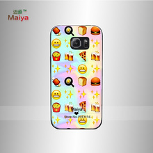 Fast Food Emoji Tie Dye Plastic Phone Case Cover For galaxy s6 s7 plus Back Shell(China (Mainland))