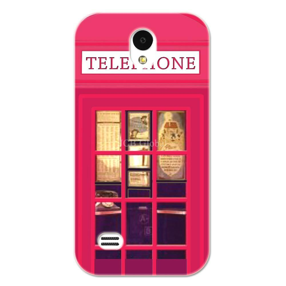 Rose Red London Telephone Booth Case For Huawei G330D G330c u8825d(China (Mainland))