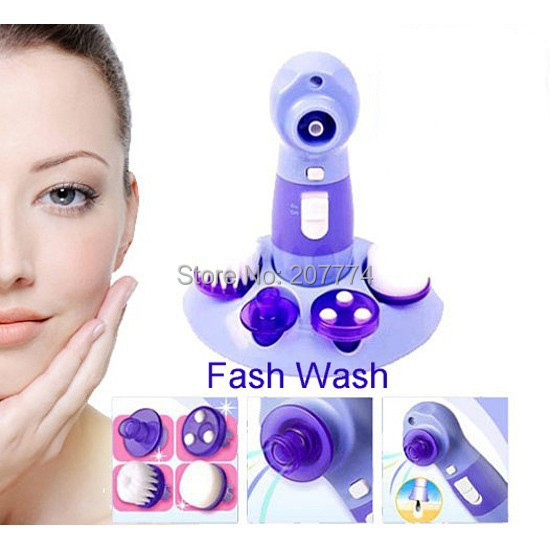 Face wash massage Power perfect 4 in 1 Set Kit Pore Cleaner Facial Cleaner Blackhead pore cleansing Fcae care Beauty massager(China (Mainland))