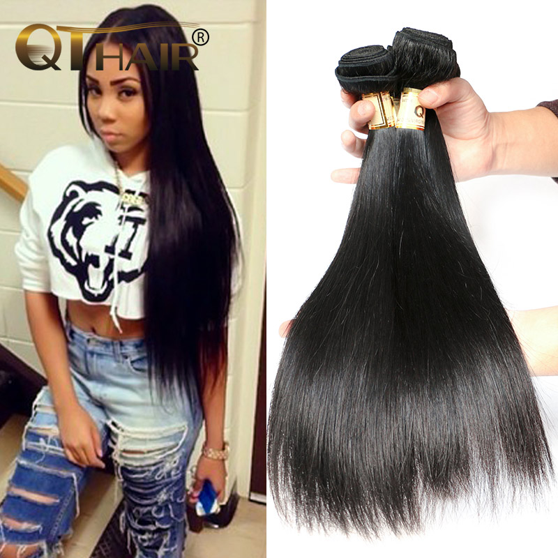 Beauty Forever Hair Malaysian Straight Virgin Hair 4 Pcs/Lot Wet And Wavy Weave Human Hair Malaysian Kinky Straight Hair Bundles