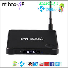 G8 Intbox smart 4K TV set top BOX,Quad core Amlogic S905 1G 8G Android TV Box,1080P Kodi better than mxq pro m8s plus m10 minix(China (Mainland))