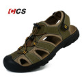 Outdoor Men s Summer Cool Sandals Non Slip Genuine Leather Soft Rubber Sole Beach Shoe Quality