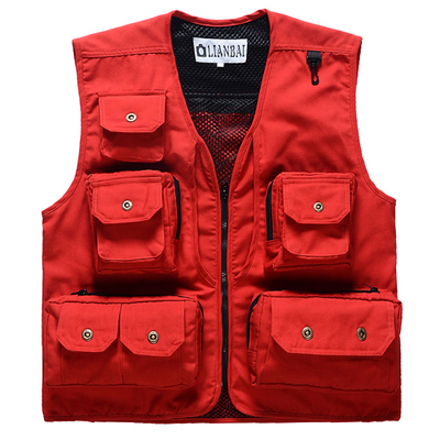 Free shipping! Spring canvas unisex multi-pocket vest photography vest fishing vest Одежда и ак�е��уары<br><br><br>Aliexpress