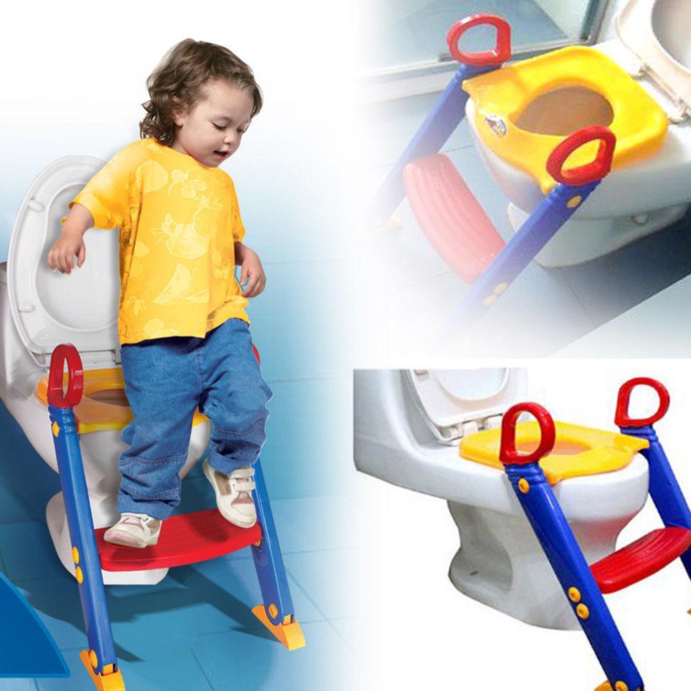 Toilet Kids Ladder Baby Toddler Training Toilet Step Potty Seat Non Slip Trainer Baby Exercise Safety Folding Ladder(China (Mainland))