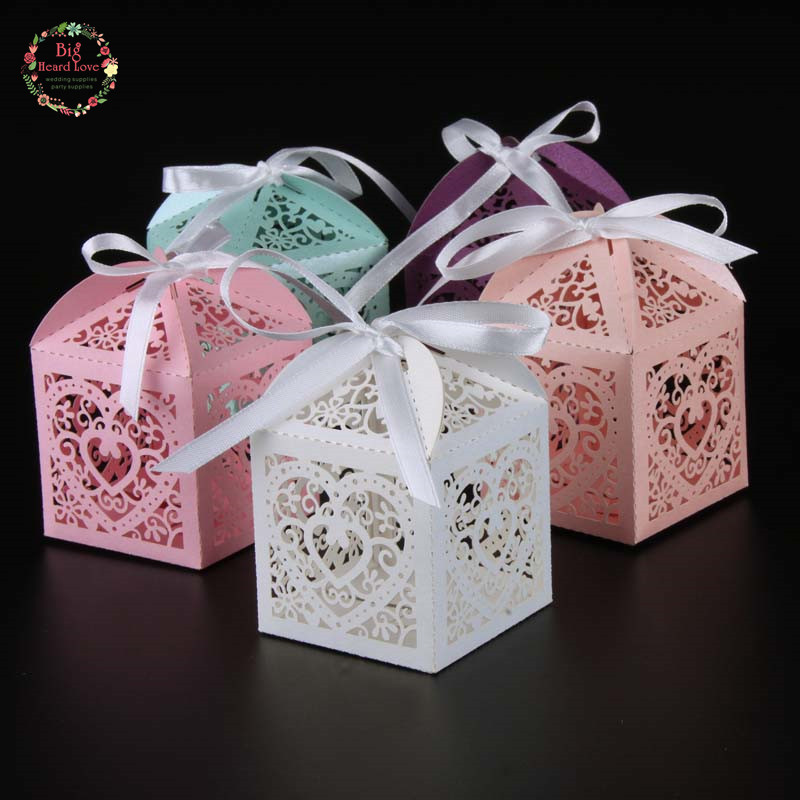 Wedding Favor Boxes For Candy : Love Heart Candy Box wedding box Wedding Party Favor box gift box ...