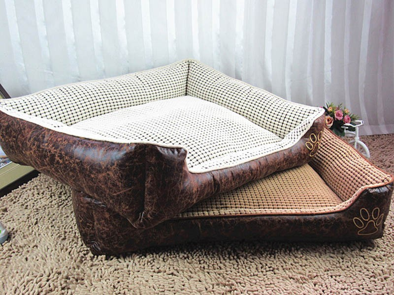 Large Dog Bed Mat Cushion Washable Warm Soft Fleece Pet House Kennel Cushion Luxury Sofa Bed Pet Products PT0027 (7)